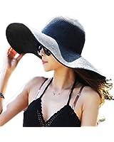 Summer Large Brimmed Hat Sandbeach Sunscreen Straw Hat Cap
