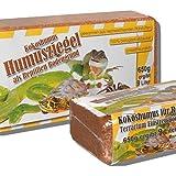 6 x 650 Gramm Kokoseinstreu Bodengrund Kokoserde Humusziegel für Reptilien