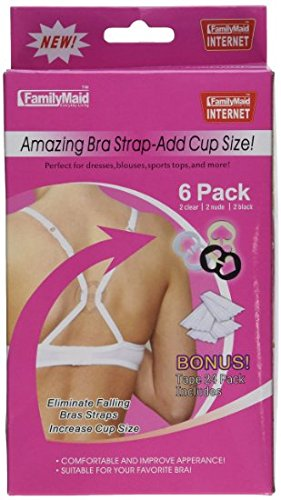 As Seen on TV - The Ultimate Bra Strap Solution Perfect Concealer Clips - Cleavage Control - 6 Pack Plus Body Tape