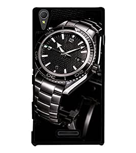 printtech Steel Watch Back Case Cover for Sony Xperia T3