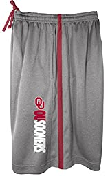 NCAA Oklahoma Sooners Men\'s All For One Training Shorts, Large, Grey