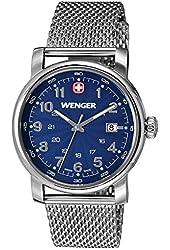 Wenger Men's 1041.107 Analog Display Swiss Quartz Silver Watch