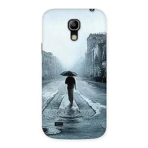 Enticing Beautiful Walking Rain Multicolor Back Case Cover for Galaxy S4 Mini
