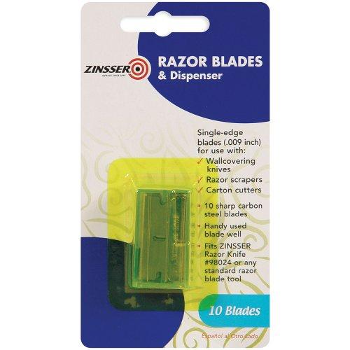 Zinsser 98025 Razor Blades And Dispenser, 10-Count
