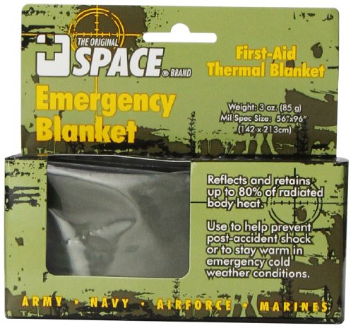 Grabber Outdoors The Original Space Brand Emergency Tactical-Survival Blanket- Olive-Drab/Silver (Space Blanket Gold compare prices)