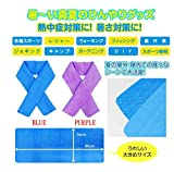 JapaNice 熱中症 対策 グッズ タオル 濡らせば 冷ややか 絞れば 吸水性 抜群 セーム 素材 クロス  tmfi-100 (パープル)