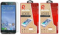 Raydenhy Pack of 2 (2 PCS) 2.5D Curved Edges 0.33MM Thickness Tempered Glass For Asus Zenfone Selfie