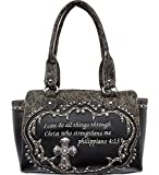 Black Bible Verse Western Rhinestone Purse