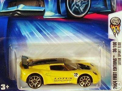 Mattel Hot Wheels 2004 First Editions 1:64 Scale Yellow Lotus Sport Elise Die Cast Car #036