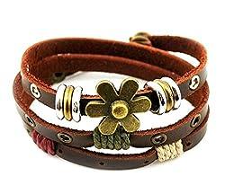 ZIOOER Charm Art Adjustable Leather Wrap Bracelet from ZIOOER