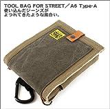 TOOL BAG FOR STREET/A6-TypeA カーキグレー×バイオワッシャーチャコールグレー