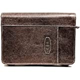 Leather-Look Dark Earth Extra Large Brown Book & Bible Cover