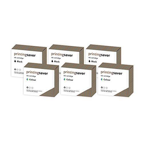 Printing Saver No.32 & No.33 SCHWARZ (3) FARBIG (3) Tintenpatronen fur LEXMARK F4350, P4330, P4350, P450, P6200, P6250, P6350, P910, P915, X3310, X3330, X3350, X4300, X5250, X5260, X5270, X5410, X5450, X5470, X5470 Business Edition, X6300, X7170, X7310, X7350, X7350 Business Edition, X3310, X3350, X3350 Business Edition, Z800, Z805, Z812, Z815, Z816, Z817, Z818 drucker - Kompatibler Ersatz No.17 & No.337