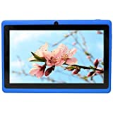 Yuntab 8GB Y88 Allwinner A33 7 inch tablet pc Android Quad-core Tablet PC, 1024*600 Capacitive, Google Android 4.4 ,with Dual Camera Google Play Pre-loaded, External 3G ,3D-Game Blue