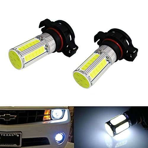 Ijdmtoy (2) Hid Matching Xenon White 5W Cob High Power 5202 5201 2504 Psx24W Led Bulbs For Fog Lights Or Daytime Running Lights