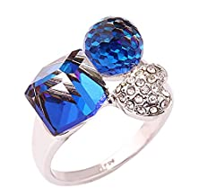 buy Acefeel New Design Changeable Color White To Blue Cube Ball Heart Magical Ring Creative Gift R200 Size 9