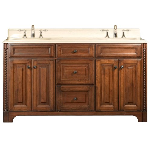 Water Creation Spain 60 Spain Collection 60-Inch (61-Inch with Countertop) Double Sink Bathroom Vanity Set