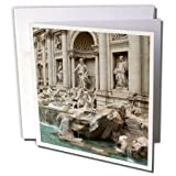 3dRose 8 x 8 x 0.25 Inches Trevi Fountain in Rome, Italy- Places To Travel Greeting Card, Set of 12 (gc_47792_2)