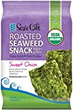 Seas Gift Organic Roasted Korean Seaweed Snack Kim Nori, Sweet Onion, 0.17 Ounce (Pack of 24)