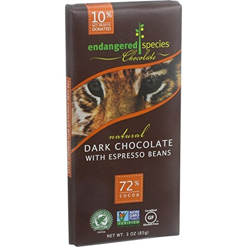 Endangered Species Natural Dark Chocolate Bar with Cinnamon Cayenne and Cherries, 3 Ounce -- 12 per case. (Cayenne Chocolate compare prices)