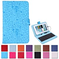 "HDE Hard Leather Folding Folio Case Cover with Keyboard for 7"" Tablet from HDE"