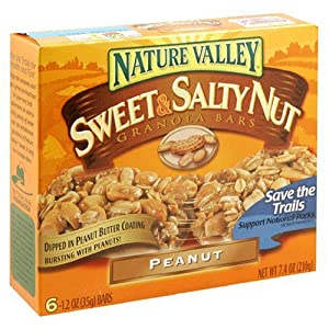 Nature Valley Sweet And Salty Peanut Snack Bars, 1.2-Ounces, (Pack of 16)