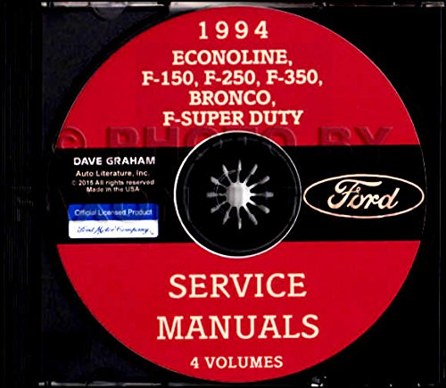 COMPLETE & UNABRIDGED 1994 FORD TRUCK, VAN & PICKUP FACTORY REPAIR SHOP & SERVICE MANUAL CD - Includes Econoline, F-150, F-250, F-350, F-450, F-550,Bronco, F-Super Duty