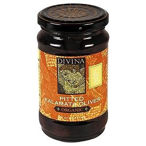 Divina Organic Kalamata Pitted Olives -- 6 oz