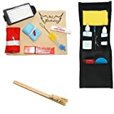 Band Camp Buddy for Baritone Saxophone - with BONUS Music Stand Clip- Essential Travel Cleaning Care & Maintenance Pack for Baritone Saxophone Players