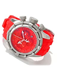 Men's Bolt/Reserve Chronograph Red Dial Red Polyurethane [Watch] Invicta