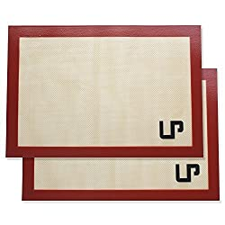 LP Placemats Silicone Baking Mat Set , Non Stick Silicon Liner for Bake Pans & Rolling Pastry,Cookie,Bun,Bread Making - Professional Grade Nonstick -2 Sets