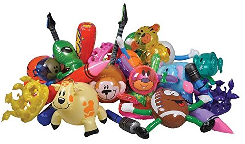 Set of 12 Assorted Inflatable Toys - Inflate Assortment (Inflatable Kids Toys compare prices)
