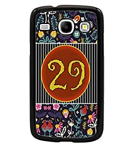 PrintDhaba Numerology Number 29 D-3118 Back Case Cover for SAMSUNG GALAXY CORE i8262 (Multi-Coloured)
