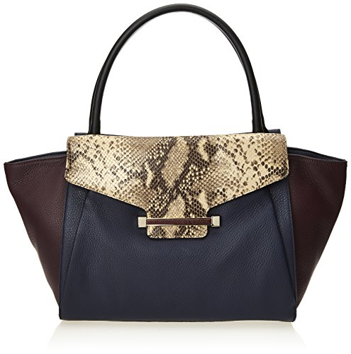 Vince Camuto Julia Satchel,Peacoat/Neutral Python Combo,One Size