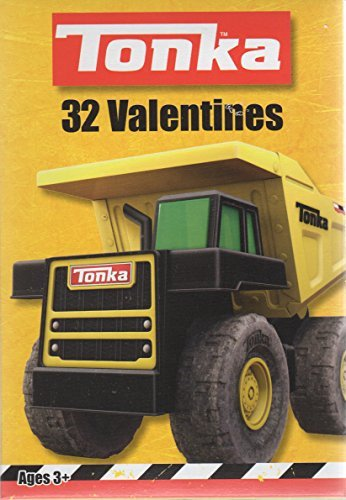 tonka-trucks-kids-valentine-cards-32-count-59378-by-paper-magic