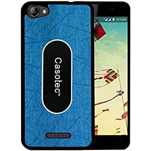 Casotec Metal Back TPU Back Case Cover for Reliance Lyf Wind 1 - Sky Blue