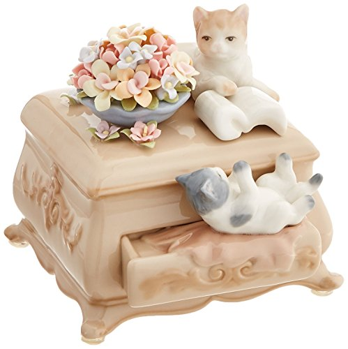 Cosmos 80043 Fine Porcelain Kittens and Dresser Musical Figurine, 4-1/2-Inch