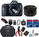 Canon EOS 6D 20.2 MP CMOS Digital SLR Camera + Canon EF 50mm f/1.8 II Lens + 64GB In Memory + Carry Case + Flexible Tripod + Wireless Shutter Remote + 6pc Starter Kit - International Version