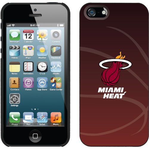 Great Sale Miami Heat - bball design on a Black iPhone 5 Thinshield Snap-On Case by Coveroo