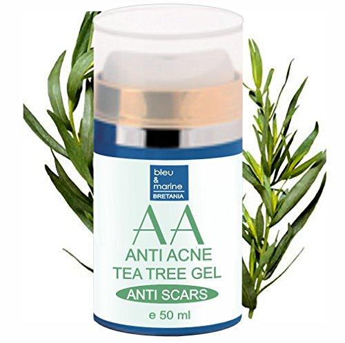 Gel Idratante di Aloe Vera e Albero del tè 50 ml Anti Acne Unisex