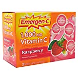 Alacer Emergen-C Vitamin C Drink Mix Packets Raspberry, Raspberry 30 pkts
