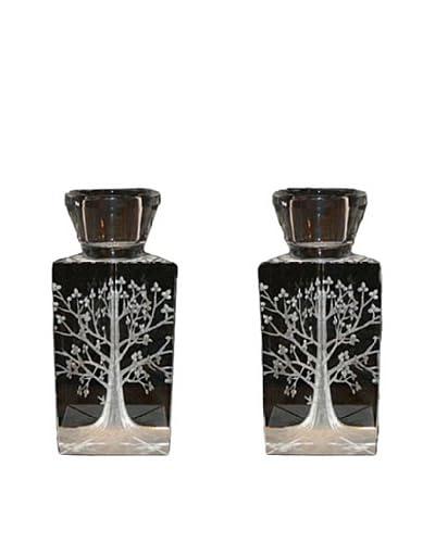 Legacy Judaica Set of 2 Tree of Life Candlesticks