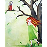 Cici Art Factory Wall Art, Who Who Owl Paper Print, Small
