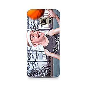 Motivatebox - Animated Graphical Guy With Basketball Samsung S7 cover - Matte Polycarbonate 3D Hard case Mobile Cell Phone Protective BACK CASE COVER. Hard Shockproof Scratch-Proof Accessories