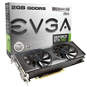 EVGA GeForce GTX760 w/EVGA ACX Cooler 2GB GDDR5 256bit, Dual-Link DVI-I, DVI-D, HDMI,DP, SLI Ready Graphics Card (02G-P4-2763-KR)