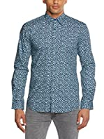 Selected Homme Camisa Hombre Guiyang (Azul Oscuro)