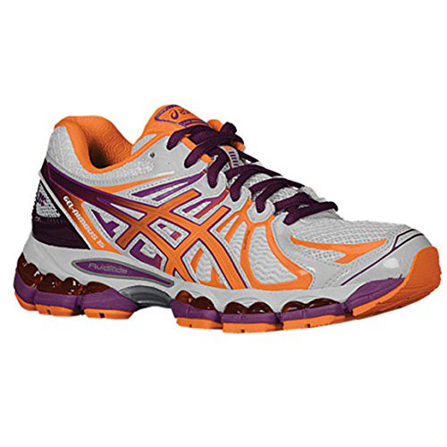 ASICS Women's GEL-Nimbus 15 Running Shoe,Lightning/Hot Punch/Marigold,7 2A Us