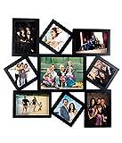 Large 9 in 1 Designer Photo Frame Collage Black (53 cm x 51 cm)
