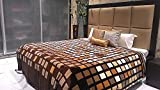 Tima Velvet Double Comforter- Brown