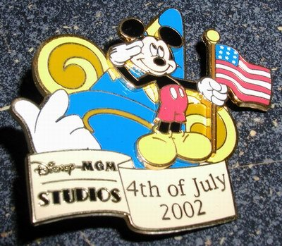Disney MGM Studios - 4th of July 2002 Celebration (Mickey) LE Pin